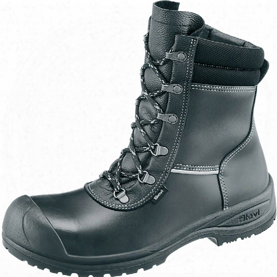Sievi Xl+ Solid Black Safety Boots - Size 8