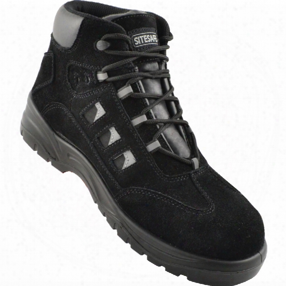 Sitesafe Black Hiker Safety Boots Size - 7