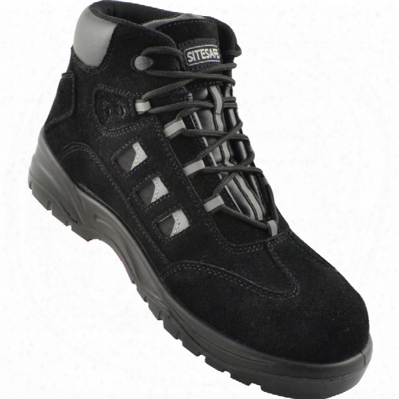Sitesafe Black Hiker Safety Boots - Size 9