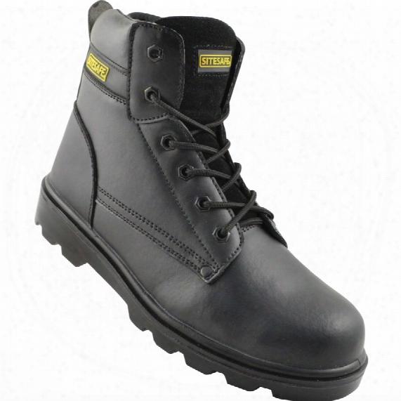 Sitesafe Black Trucker Safety Boots - Size 3