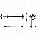 Qualfast M5X35 Skt Set Screw - Plain Cup A2 - Pack Of 200