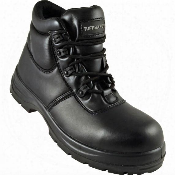 Tuffsafe Black Chukka Safety Boots - Size 8
