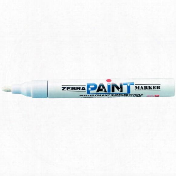 Zebra Paintmarkers White (pk-10)