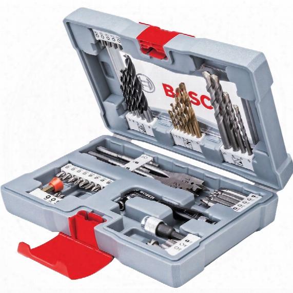 Bosch 2608p00233 Premium Accessory Drill & Driver Bit Set 49-pce