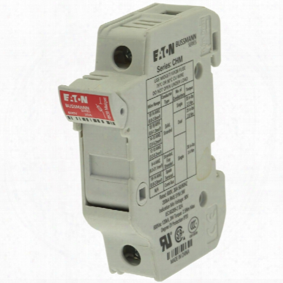 Eaton Chm1du 30amp 1pole Fuse Holder 10.3x38 600v Ac