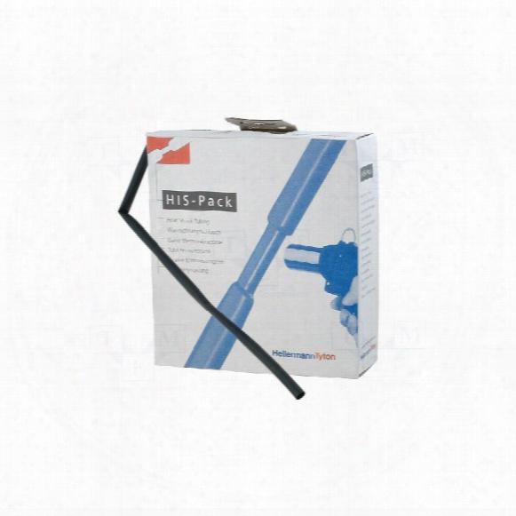 Hellermanntyton 3:1 Heatshrink Tubing, 5mt Box, 6/2 Black