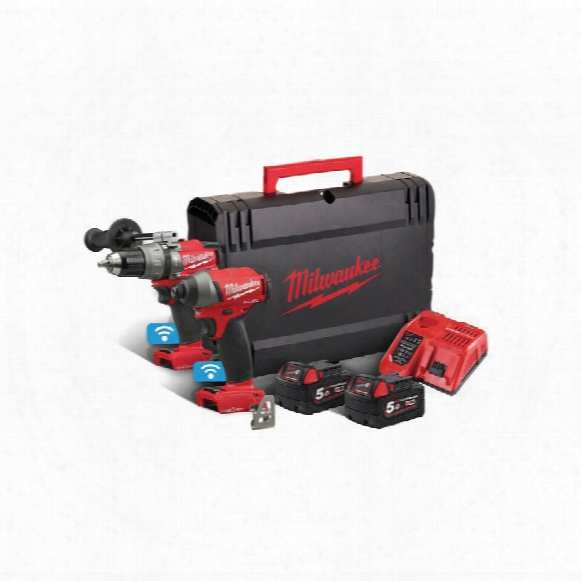 Milwaukee M18onepp2a-502x One-key Drill/driver Twin Pack
