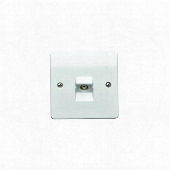 Mk Electric K3520rpwhi 1-gang Tv/fm Co-axial Socket