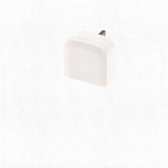 Smj Paeupc Europoan 2 Pin Plug Convertor To Uk - White