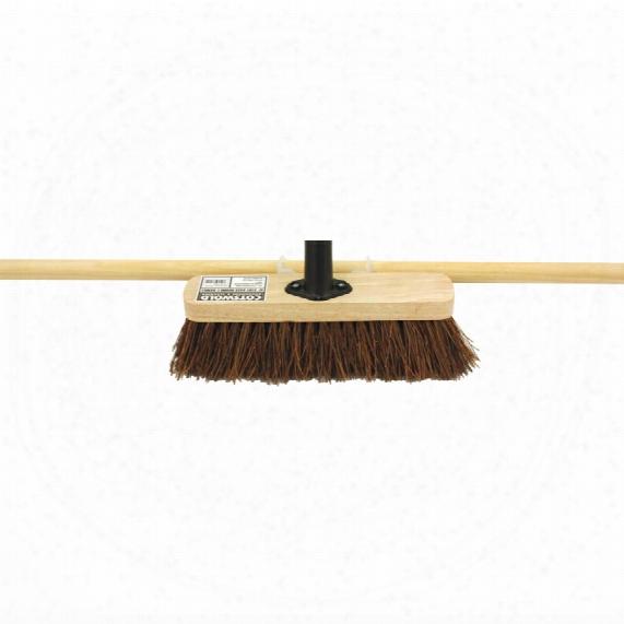 "Cotswold 24"" Stiff Bassine Broom C /w 60"" Wooden Handle"