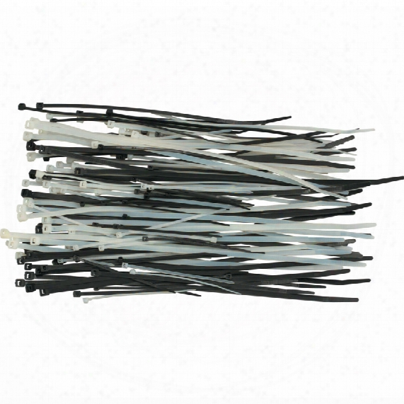 Edison Black Cable Ties 3.6mm Assorted (pk-400)