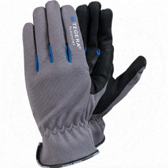 Ejendals 414 Tegera General Handling Palm-side Coated Grey/black Gloves - Size 8