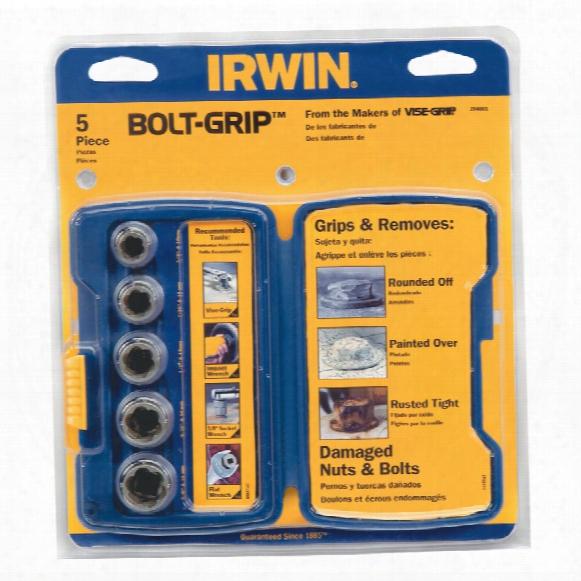 Irwin 10504634 5-piece Bolt Grip Base Set (394001)