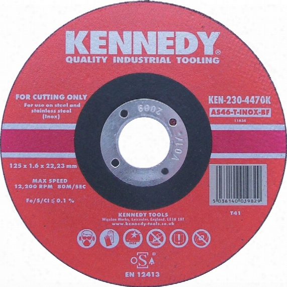 Kennedy 125x1.6x22.23mm As46 Inox Bf Cut-off Disc