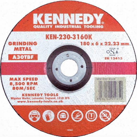 Kennedy 350x3x25.4mm A36rbf Flat Cutting Disc