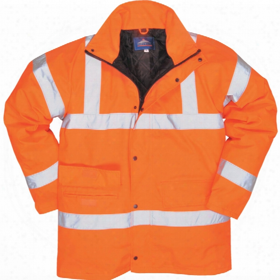 Portwest Rt30 Rail Industry Hi-vis Rainwear Jacket 2xl