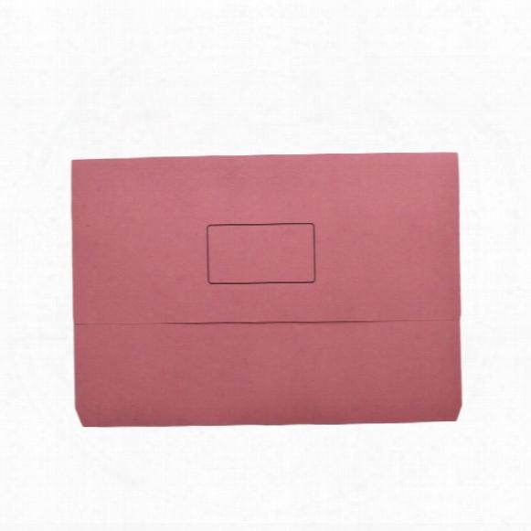 Qconnect Q Connect Document Wallet Pink Foolscap (pk-50)