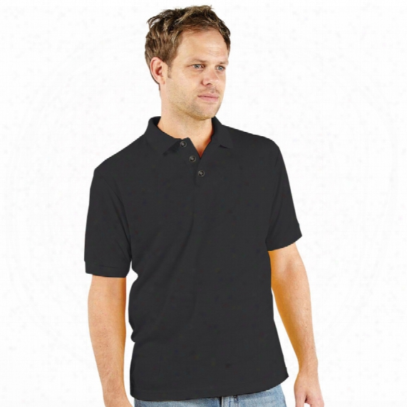 Ranks Rk10 Classic Black Pique Polo Shirt - Size S