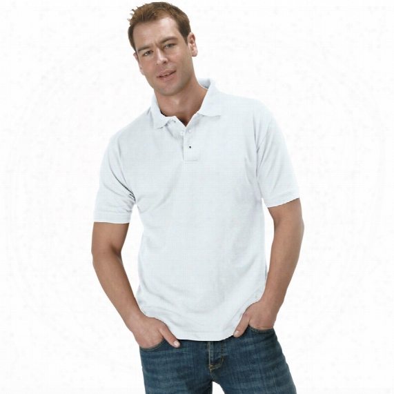 Ranks Rk11 Heavyweight Men's White Polo Shirt - Size S