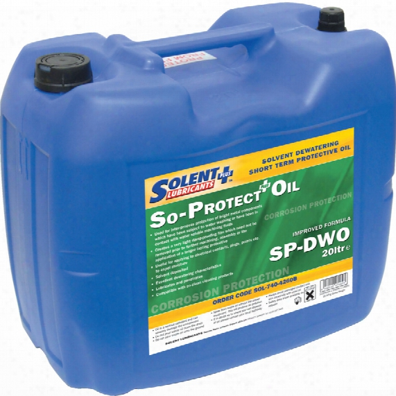 Solent Lubricants Plus Solent Solvent Dewatering S/term Protect Oil 20ltr