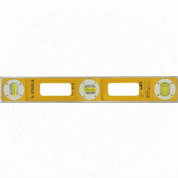 "Stabila 83s/40"" 3-vial Yellow Die-cast Level"