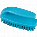 102Mm Prof' Med' Poly' Nail Brush Grippy - Blue
