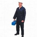 Tuffsafe Cotton Drill Navy Overall - Medium