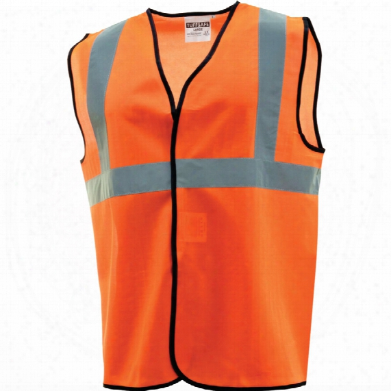 Tuffsafe Hi-vis Waistcoat 1bb & B Orange Large