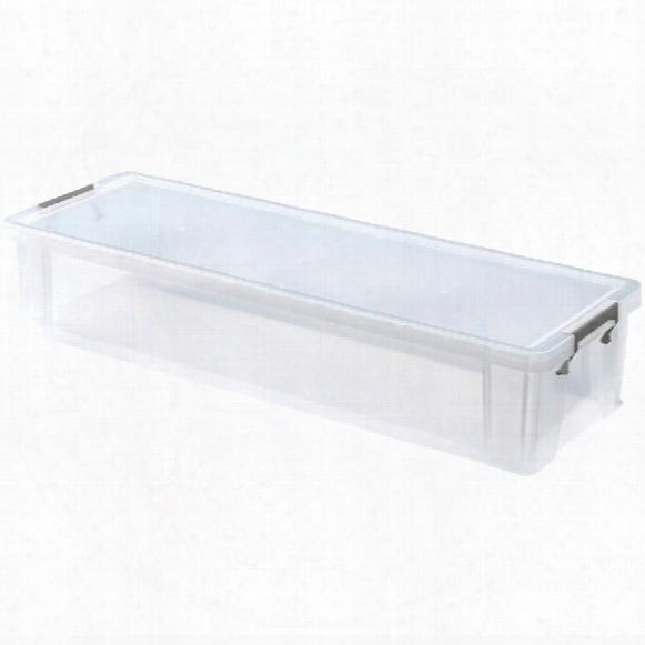 Whitefurze Allstore 27ltr 810x280x160mm Storage Box With Lid