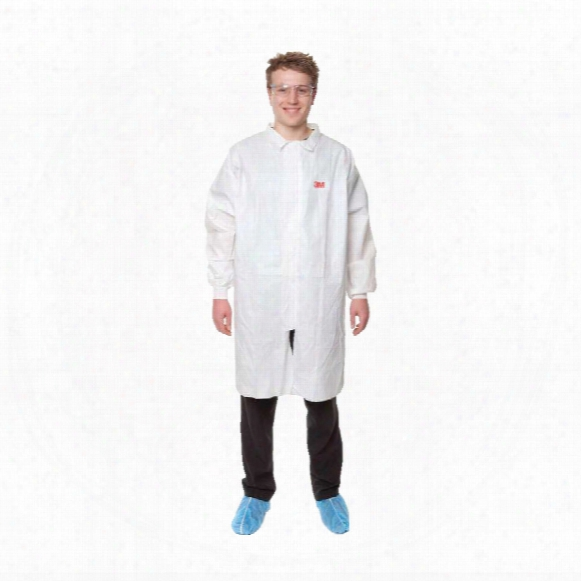 3m 4440 Lab Coat With Zipper White (m)