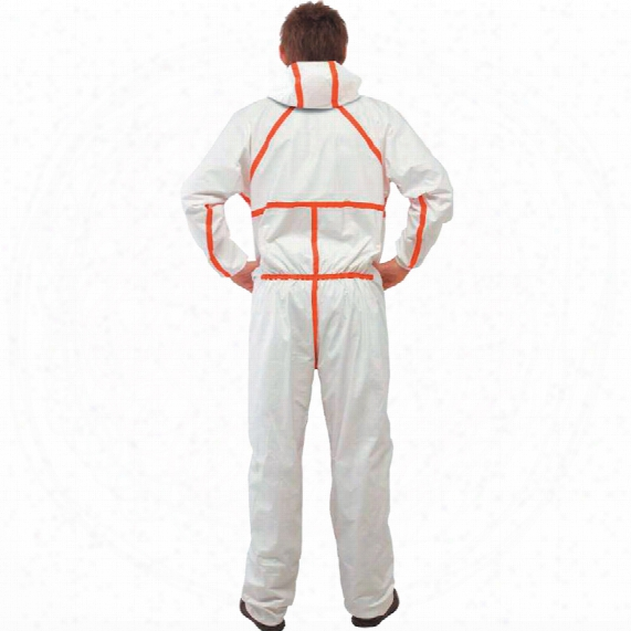 3m 4565 Coverall White/red T Ype-4/5/6 (3xl)