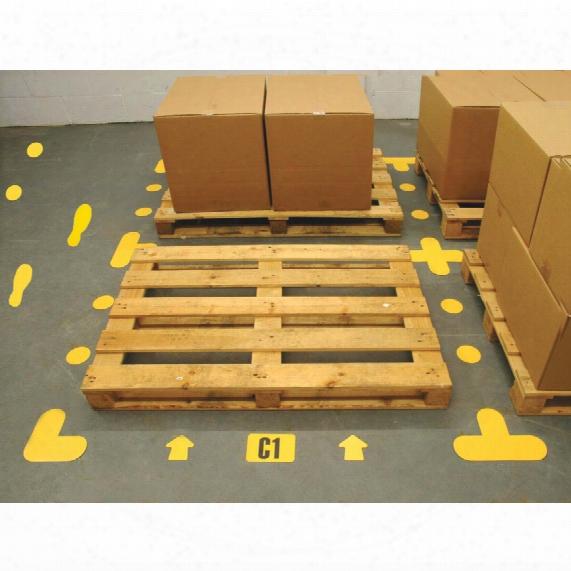 "Beaverswood Floor Signalling 200x200m M White ""l"" (pk-10)"