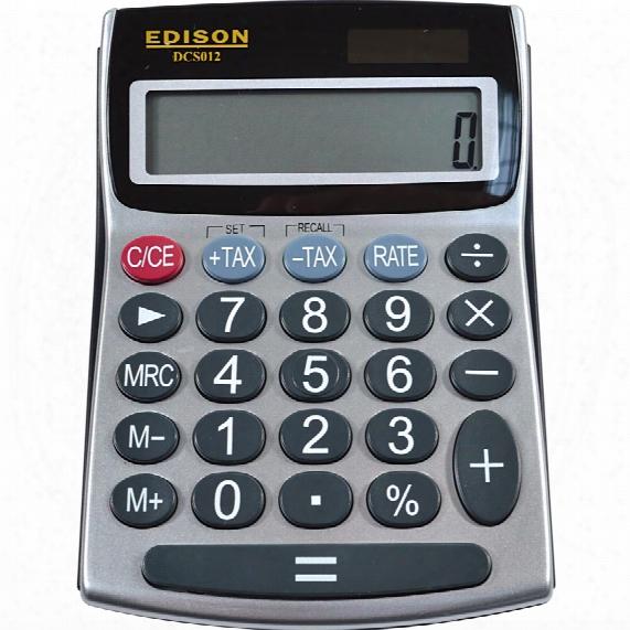Edison Dcs012 12-digit Semi-desk Lcd Calculator