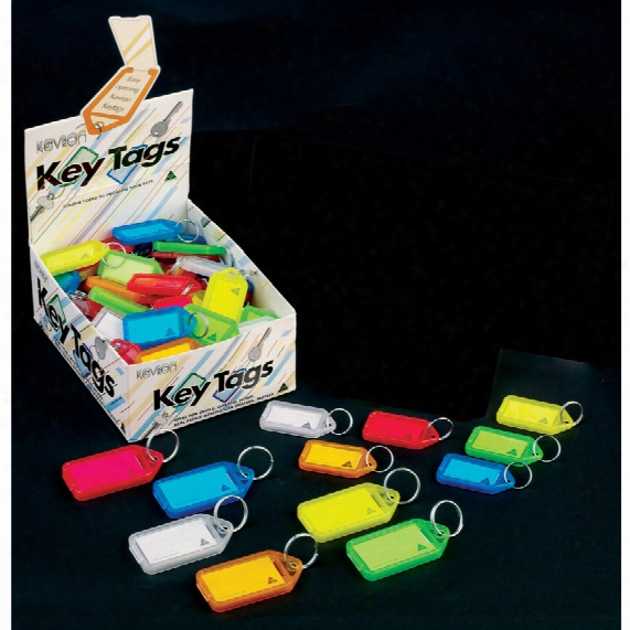 Jet Click Tags Plastic Assorted Colours (pk-100)