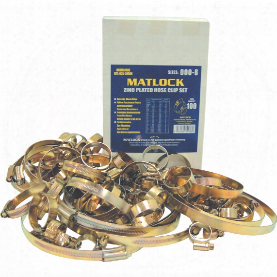 Matlock Assorted Stainless Steel Hose Clips (pk-50)