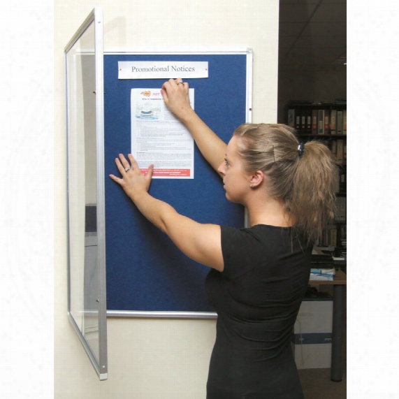 Offis Notice Board Show Case Red Alum. Trim 900x600mm