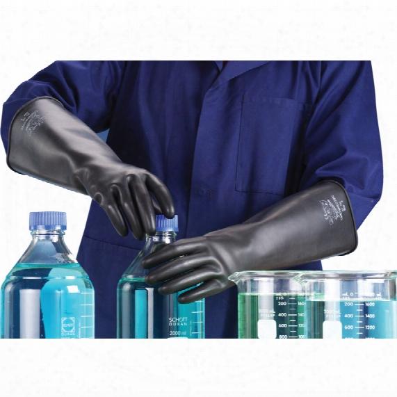 Polyco Sc104/08 Chemprotec M/w U /l Rubber Gloves 8 40cm