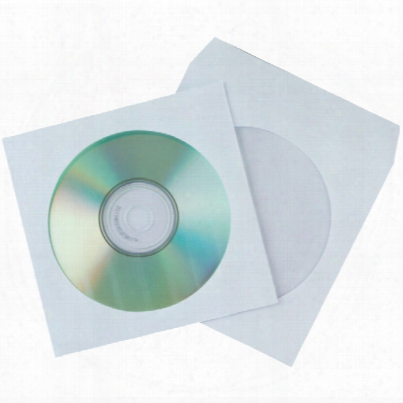 Qconnect White Cd Envelopes Papergummed (pk-50)
