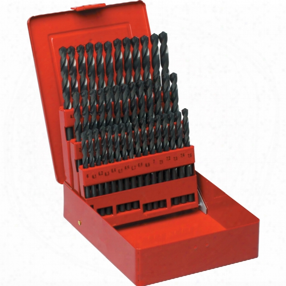 Sherwood Set Of 41 Hss Drills 6-10.00mm X 0.1mm