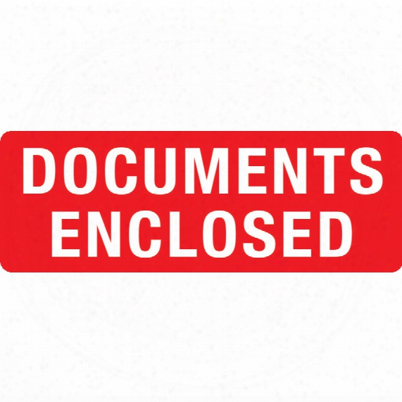 Transpal 89x32mm Documents Enclosed Labels (roll-1000)