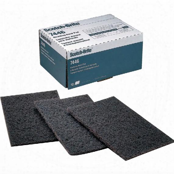 3m.7446 Scotchbrite Hand Pad Scrs - Dark Grey (1-pad)