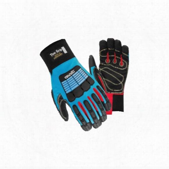 Cestus Csl17 Tow Grip Black/blue Gloves - Size Xl