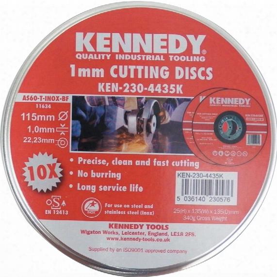 Kennedy 115x1x22.23mm As60 Inox Bf Cut-off Disc (tin-10)