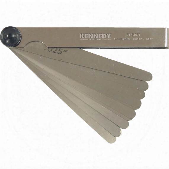 "Kennedy 4"" 10 Blade Imperial Feeler Gauge"