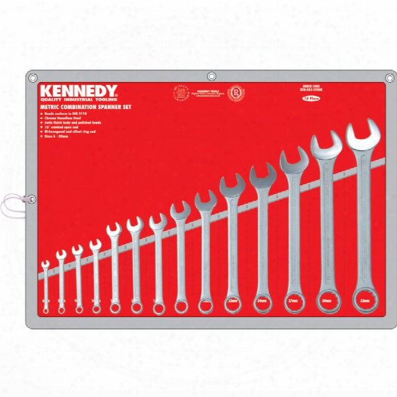 Kennedy 6-32mm Cv Combination Spanner Set 14pc