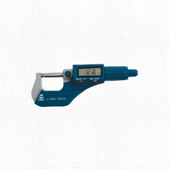 "Moore & Wright Mw200-04dbl 75-100mm/3-4"" Digital Micrometer"