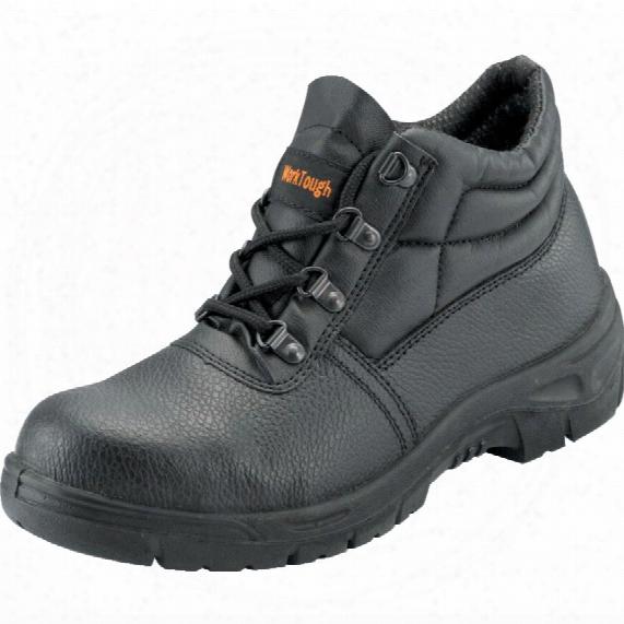 Psf 100 Worktough Men's Black Chukka Safety Boots - Size 8