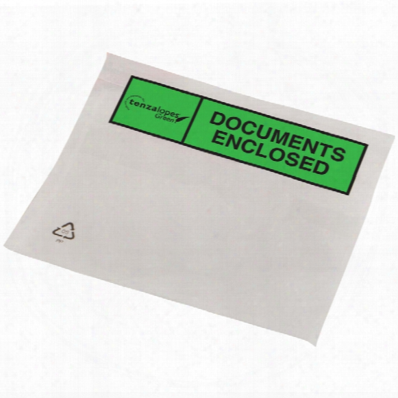 """Tenzalopes Biodegradeable Pack List Wallet A6 """"document Enclosed"""" (box-1000)"""