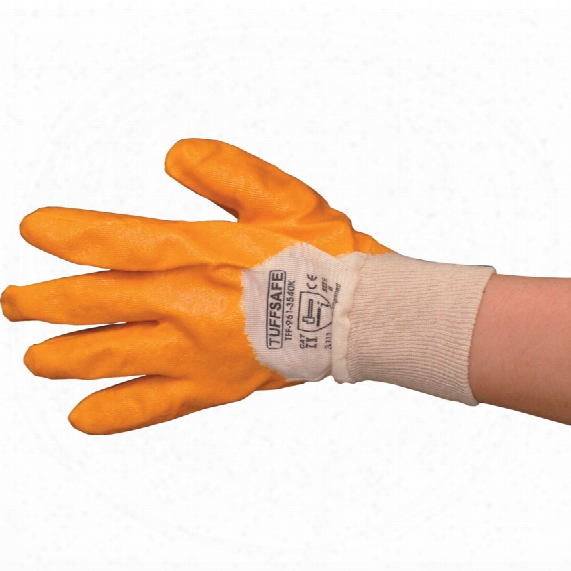 Tuffsafe L/w Nitrile P/coat K/w Glove Sz.9