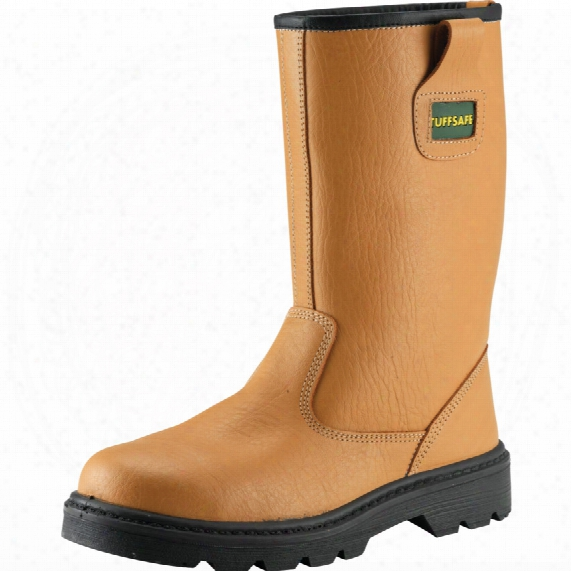 Tuffsafe Rigger Boot S1p Lined S/m/s Tan Rat06 Sz.10
